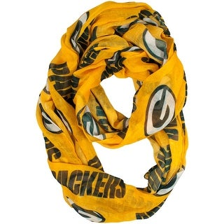 Link to Green Bay Packers Yellow/Gold Infinity Sheer Scarf Similar Items in Scarves & Wraps