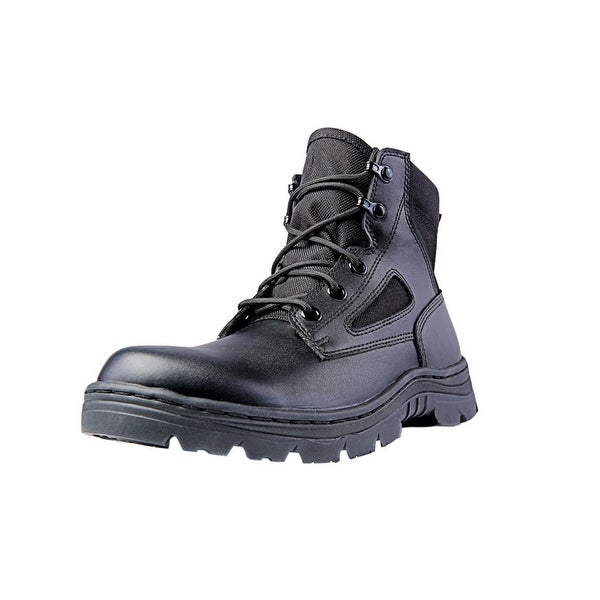 "Ridge Tactical Boots Mens Dura-Max Mid Zipper 6"" Shaft Black"