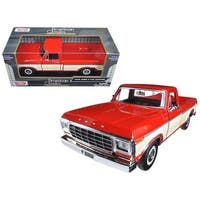 1979 Ford F-150 Pickup Truck 2 Tone Red/Cream 1/24 Diecast Model Car by Motormax