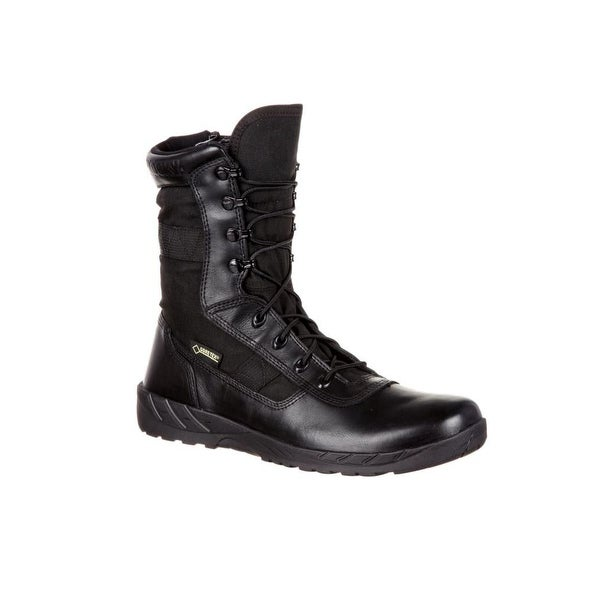 Rocky Tactical Boots Mens C7 Waterproof Zip Lace Black