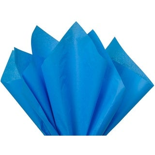 """Pack Of 480, Solid Brilliant Blue Tissue Paper 20 x 26"""" Sheet Half Ream"""