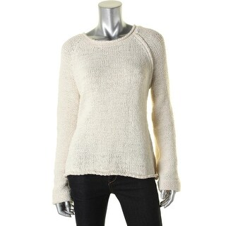 Elan Womens Pullover Sweater Cut-Out Raglan Sleeves - m