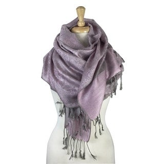 "Link to Paisley Jacquard Pashmina Shawl Wrap Scarf Stole - 28"" width x 78"" length with Fringes Similar Items in Scarves & Wraps"