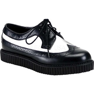 Demonia Men's Creeper 608 Black/White Leather