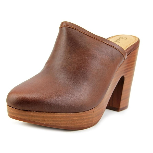 Splendid Gabby Women Round Toe Leather Brown Clogs