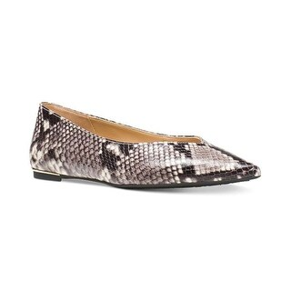 Michael Kors Womens Lizzy Leather Pointed Toe Ballet Flats
