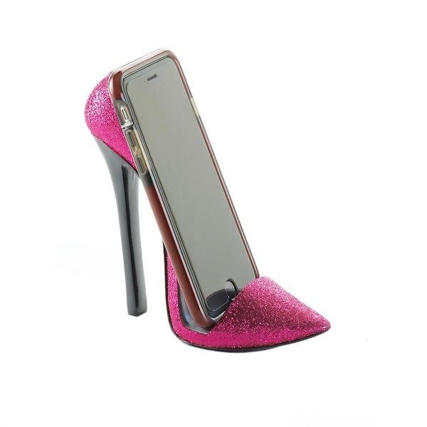 Retro Pink Shoe Phone Holder
