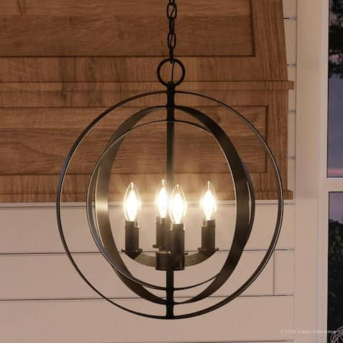 """Luxury Industrial Chic Pendant Light, 18.375""""H x 16""""W, with Modern Farmhouse Style, Olde Bronze Finish by Urban Ambiance - 16"""