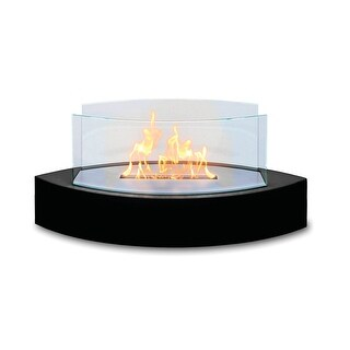 Lexington (High Gloss Black) Table Top Bio Ethanol Ventless Fireplace