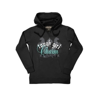 Farm Girl Western Sweatshirt Womens Tough Girl Hoodie Black F23027194