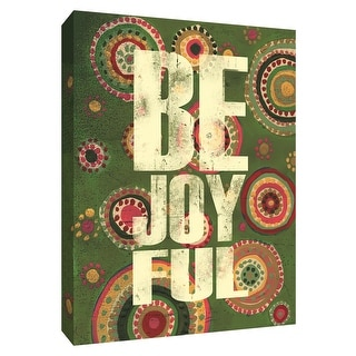 """PTM Images 9-154456  PTM Canvas Collection 10"""" x 8"""" - """"Be Joyful"""" Giclee Sayings & Quotes Art Print on Canvas"""