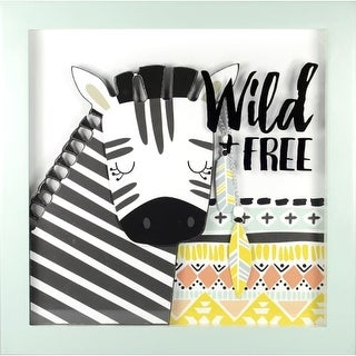 """RoomMates AVE10077 12 Inch Square """"Wild and Free"""" Shadowbox Art Print - N/A"""