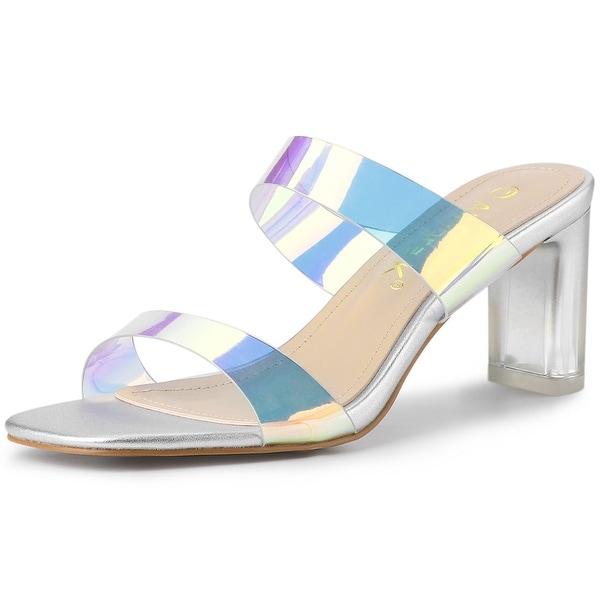 Allegra K Womens Chunky Heels Ankle Strap Sandals