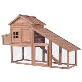 82'' Chicken Coop Poultry Hen House Rabbit Hutch Backyard Cage-XLarge 0315