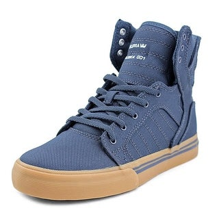 Supra Skytop Youth Round Toe Canvas Blue Sneakers