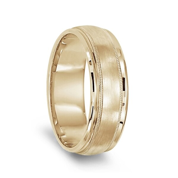 Mens Titanium Hammered Center Comfort-Fit Round Edge Plain Wedding Band 7mm Wedding Band