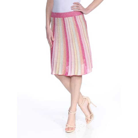 GUESS Womens Pink Striped Above The Knee A-Line Skirt Size: XS