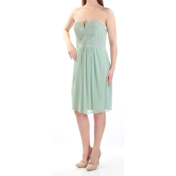 Shop Adrianna Papell Womens Strapless Lace Sheath Dress - On Sale ... 5bfd8a20af2f