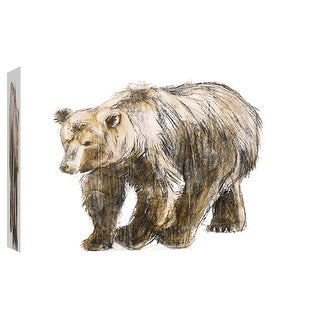 "PTM Images 9-102009  PTM Canvas Collection 8"" x 10"" - ""Brown Bear 1"" Giclee Bears Art Print on Canvas"