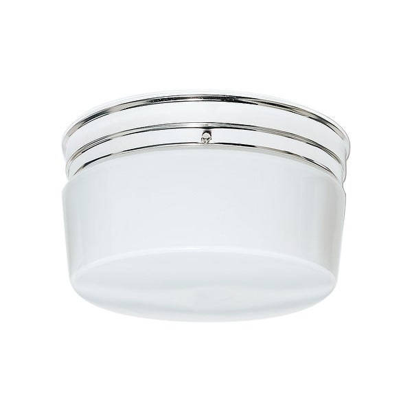 """Nuvo Lighting 77/344 2 Light 10"""" Wide Flush Mount Ceiling Fixture - Polished chrome"""
