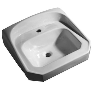 """Proflo PF5511 21"""" Wall Mounted Bathroom Sink with 1 Hole Drilled"""