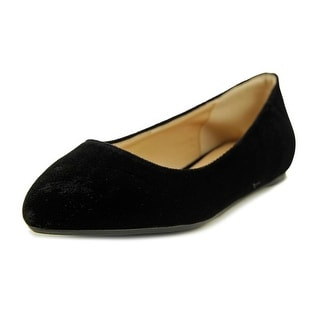 Penny Loves Kenny Aaron II Women Pointed Toe Canvas Black Flats