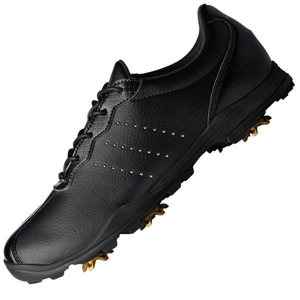 Adidas Womens adipure dc Low Top Lace Up Golf Shoes, Black gold, Size 5.5