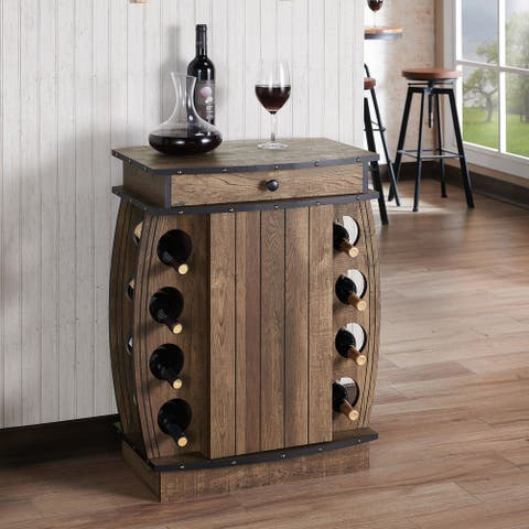 Carbon Loft Avital Rustic Reclaimed Oak Finish Multi-storage Bar Cabinet