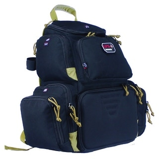 G.P.S. Handgunner Backpack Black/Tan GPS-1711BPBT