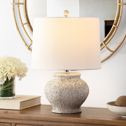 "SAFAVIEH Lighting 21-inch Imran Resin Table Lamp - 14"" x 14"" x 21"""