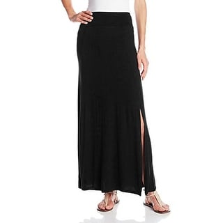 eric + lani Womens Maxi Skirt Solid Side Slit