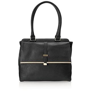 Olivia + Joy Womens Brandee Faux Leather Framed Satchel Handbag - Large