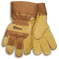Kinco 1958-M Thermal Lined Pigskin Gloves, Medium, Brown