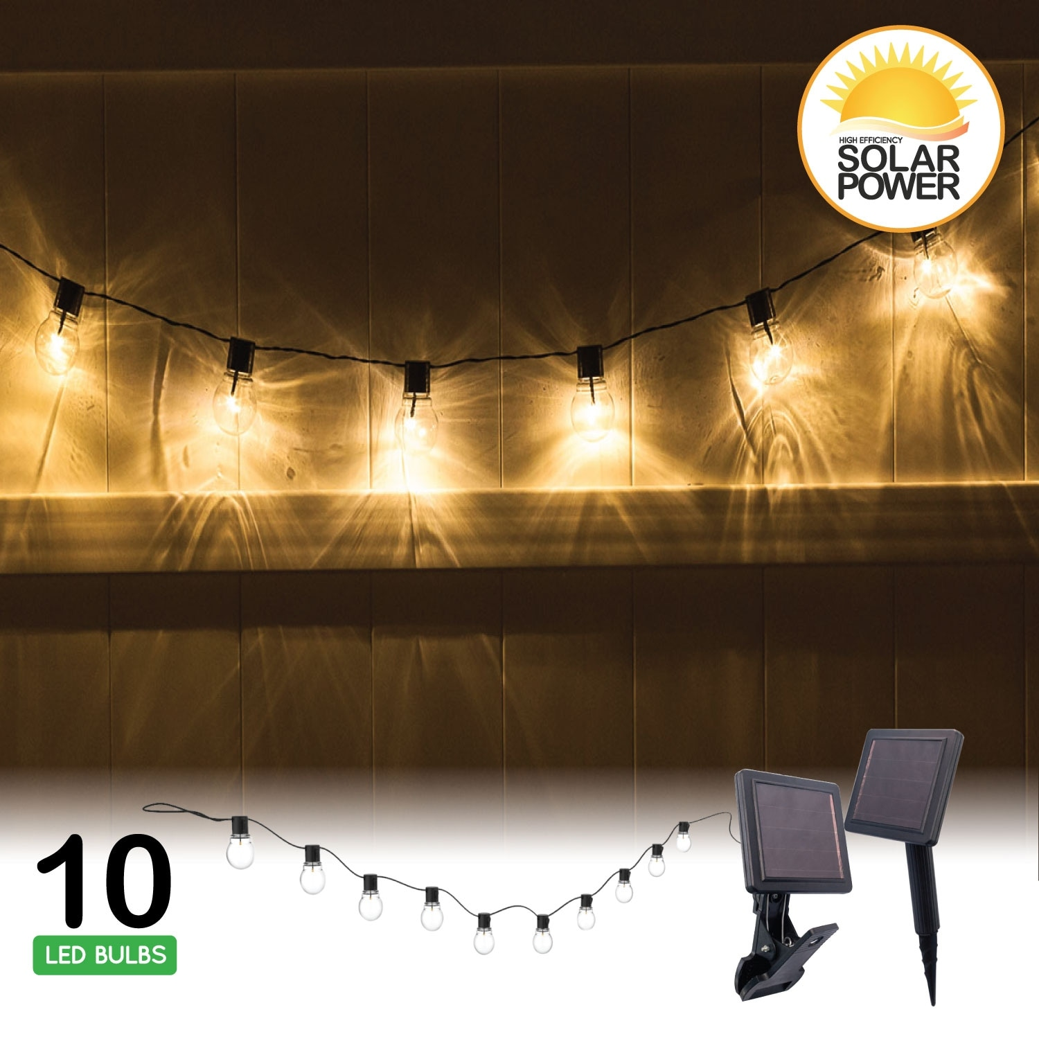 shop socialite 20ft solar edison led solar string patio lights on sale free shipping on. Black Bedroom Furniture Sets. Home Design Ideas