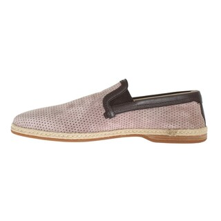 Dolce & Gabbana Light Pink Leather Breathable Loafers - eu44-us11
