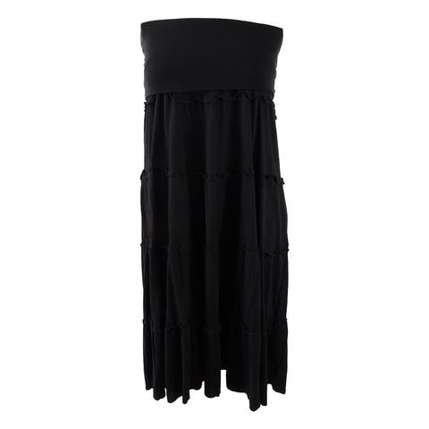 INC International Concepts Women's Tiered Maxi Skirt (XXL, Deep Black) - Deep Black - XXL