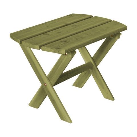 Cedar Folding Oval End Table