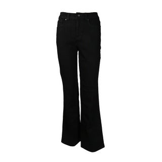 Charter Club Women's Core Curvy Bootcut Pants - Black