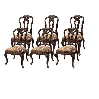 Palladio Side Chair with Wooden Back - Set of 6 - Brown
