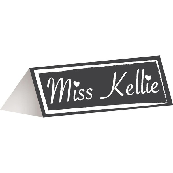 Club Pack Of 144 Black And White Chalkboard Dinner Party Place Cards
