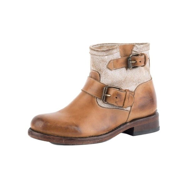 Stetson Western Boots Womens Mia Buckle Tan