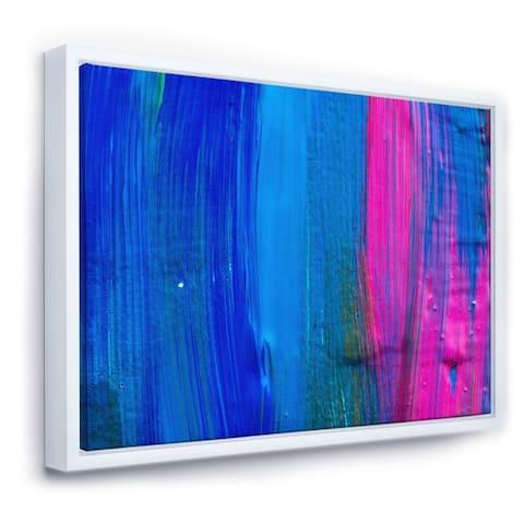 Designart 'Oil On Canvas Textured Composition V' Modern & Contemporary Framed Canvas Wall Art Print
