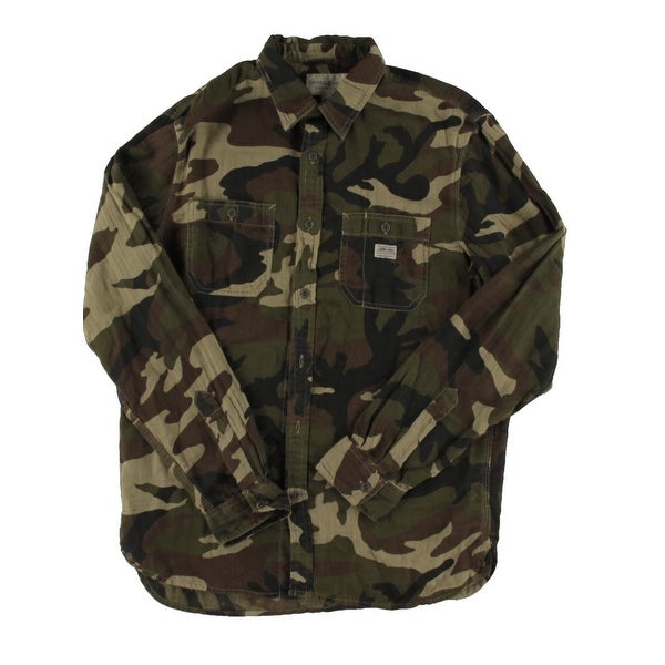 Shop Denim   Supply Ralph Lauren Mens Button-Down Shirt Camo Long Sleeve -  M - Free Shipping On Orders Over  45 - Overstock - 20876143 00263e64ab20d