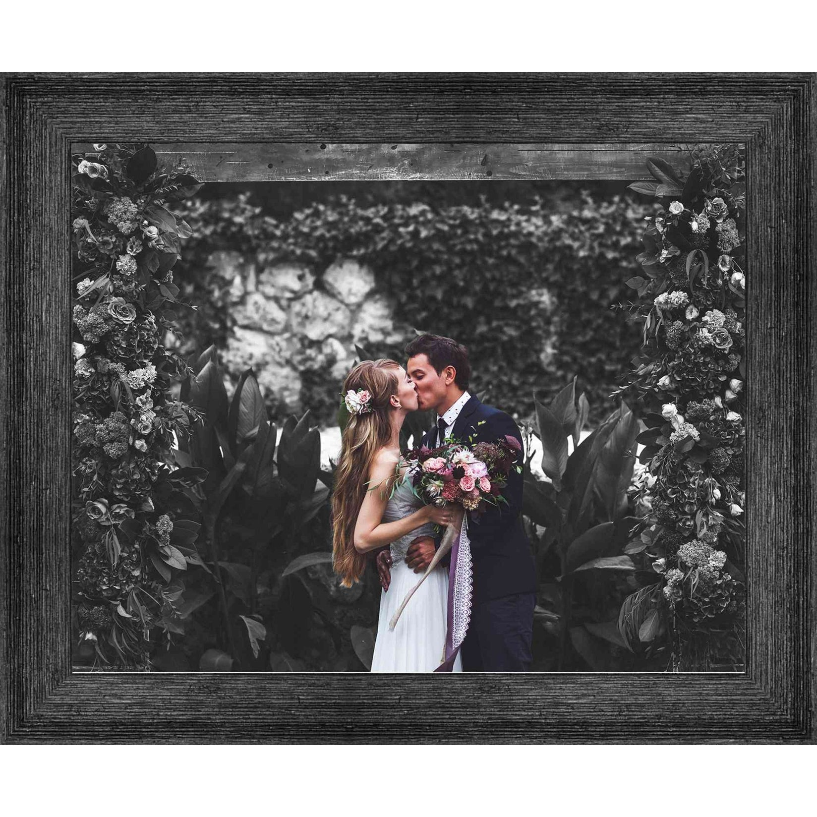 Details about  /10x22 Grey Barnwood Picture Frame With Acrylic Front and Foam Board Backing