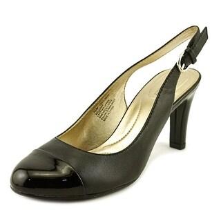 Bandolino Levani Women Round Toe Canvas Black Slingback Heel