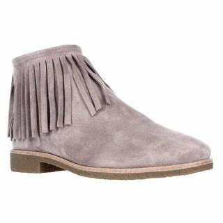 Kate Spade Betsie Fringe Ankle Boots - Truffle
