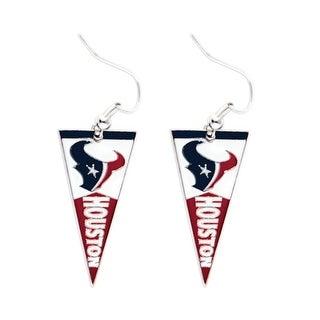 Houston Texans NFL Pennant Dangle Earring