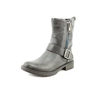 Madden Girl Brawl Women Round Toe Leather Ankle Boot