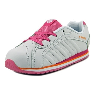 K-Swiss Verstad III S Toddler Round Toe Leather White Sneakers