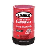 Sterno 30278 100 hour Emergency Liquid Wax Candles - Pack of 4